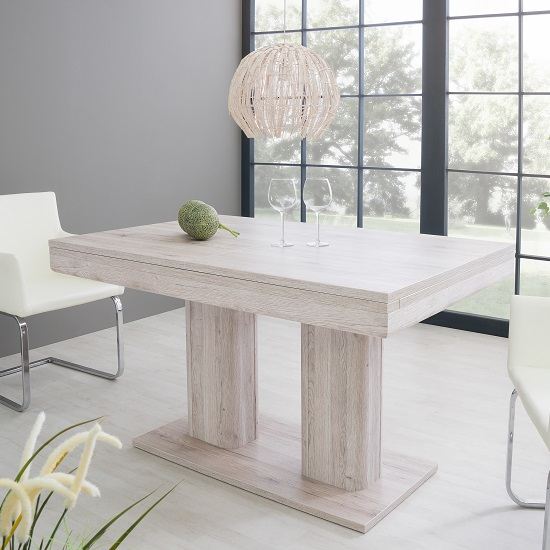 Andorra Wooden Extendable Dining Table In Sorrento Oak_1