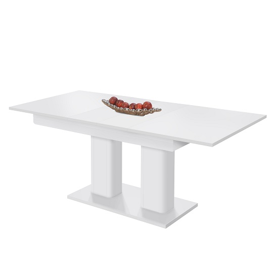 Andorra Wooden Extendable Dining Table Rectangular In White_2