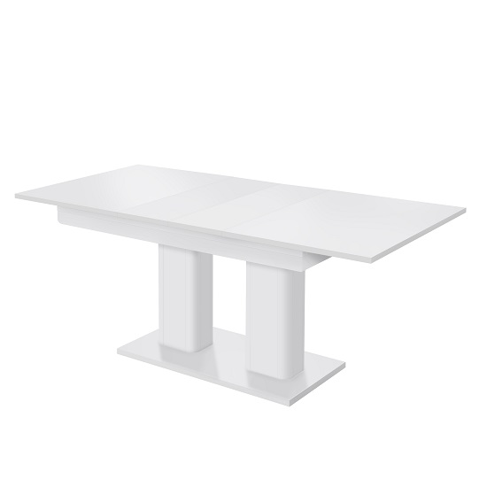 Andorra Wooden Extendable Dining Table Rectangular In White Furniture In Fashion