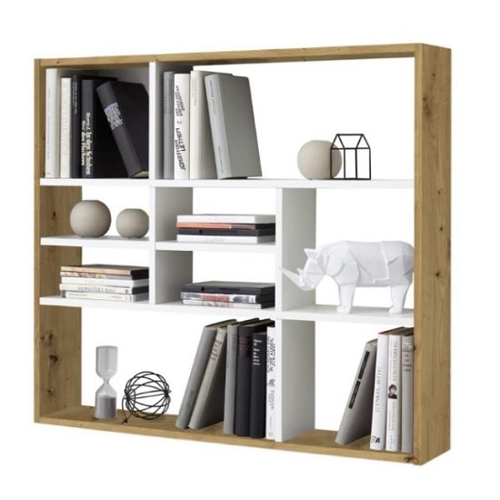Andreas Wall Mounted Shelving Unit In Artisan Oak