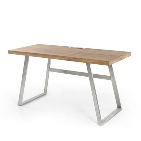 Andria Wooden Computer Desk In Knotty Oak