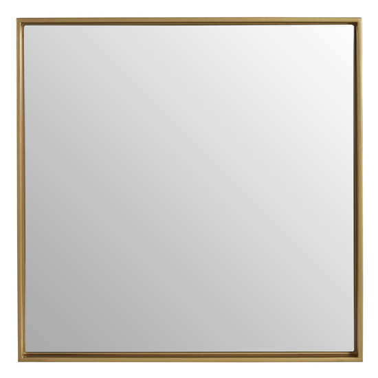 Andstima Small Square Wall Mirror In Gold_1