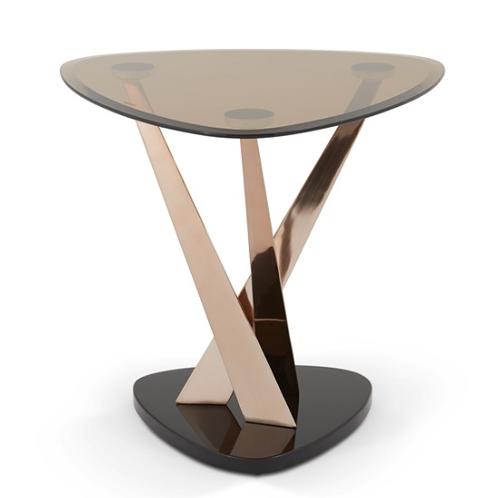 Angela Glass Lamp Table In Smoke With Rose Gold Frame_3