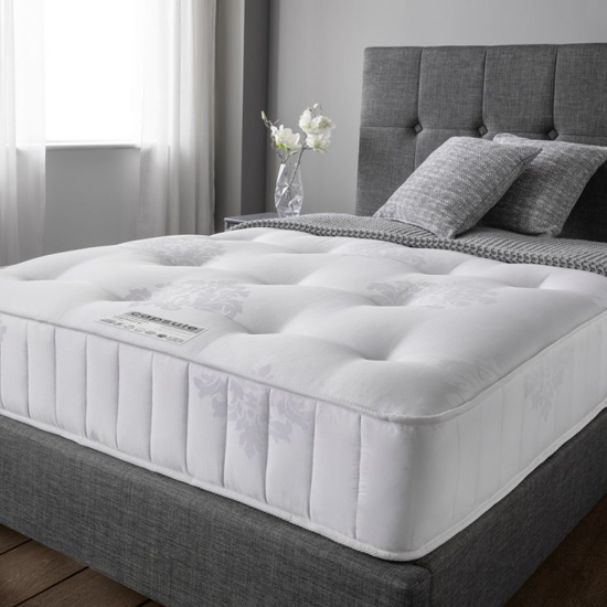 View Angelica memory pocket luxury damask fabric super king size mattress