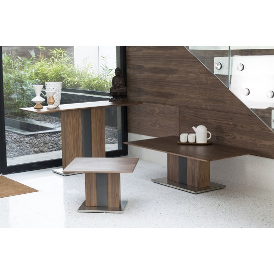 Angelo Coffee Table Rectangular In Walnut And Grey PU_3