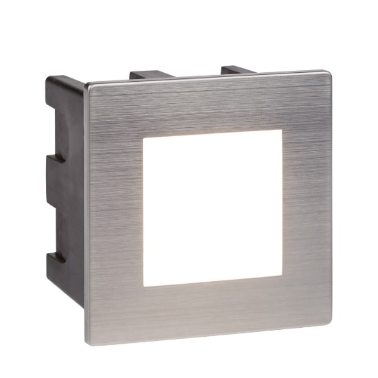 Ankle Square Outdoor Light In Chrome With Opal White Diffuser