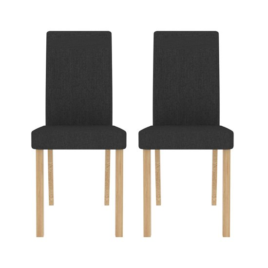 Anna Grey Finish Dining Chair In Pair