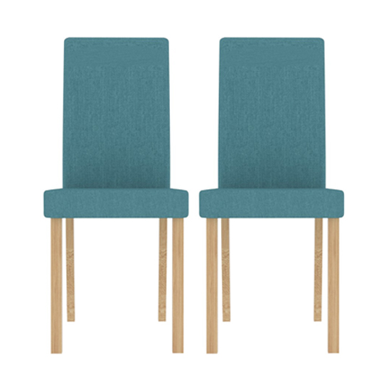Anna Teal Finish Dining Chair In Pair