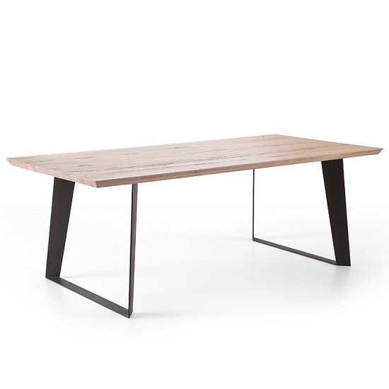 Annecy Wooden 220cm Rectangular Dining Table With Metal Legs