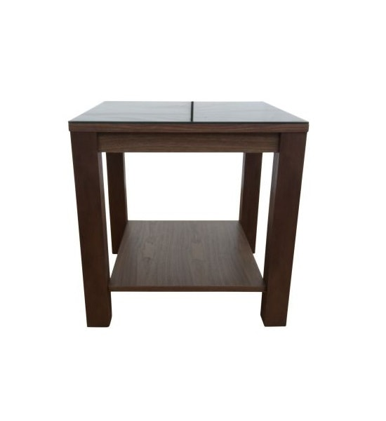Anneli Glass Side Table In Walnut And Black High Gloss_2
