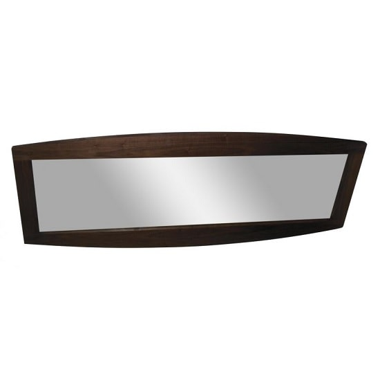 Anneli Contemporary Wall Mirror Rectangular In Walnut