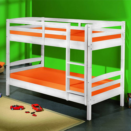 Annika Wooden Bunk Bed In White