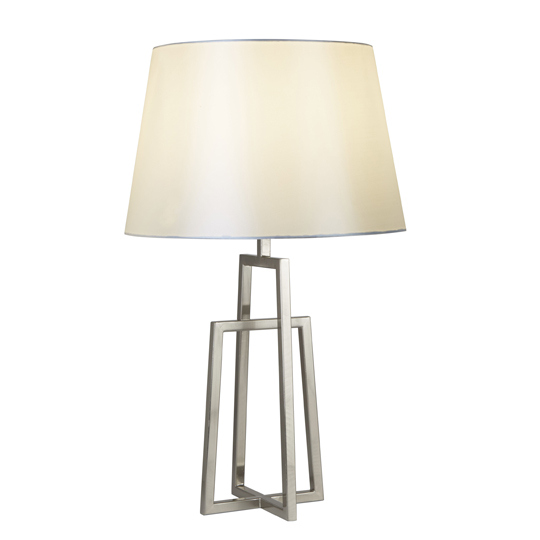 Antares Crossed Frame Table Lamp In Chrome