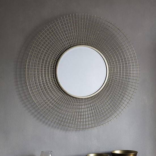 Antila Modern Wall Mirror Round In Gold