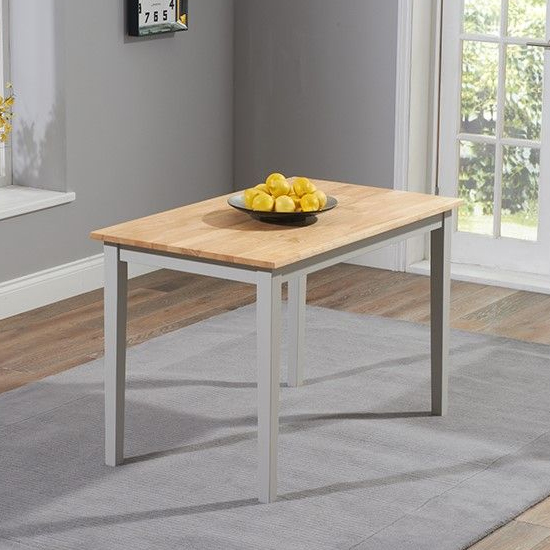 Antlia Wooden Dining Table In Oak And Grey