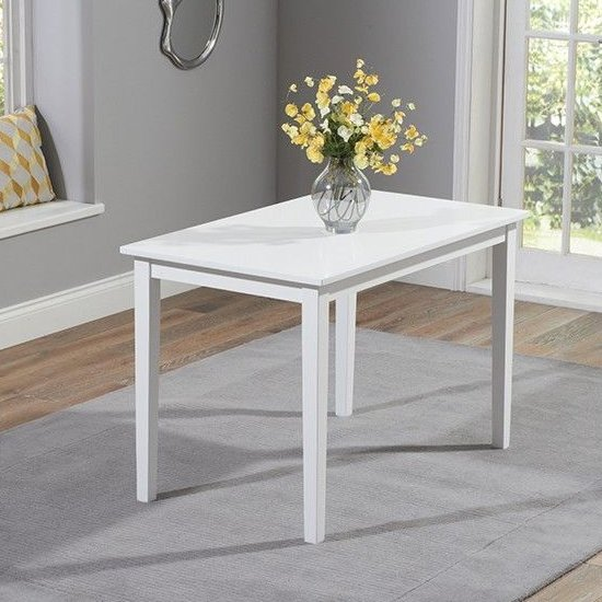 Ankila Wooden Dining Table In White