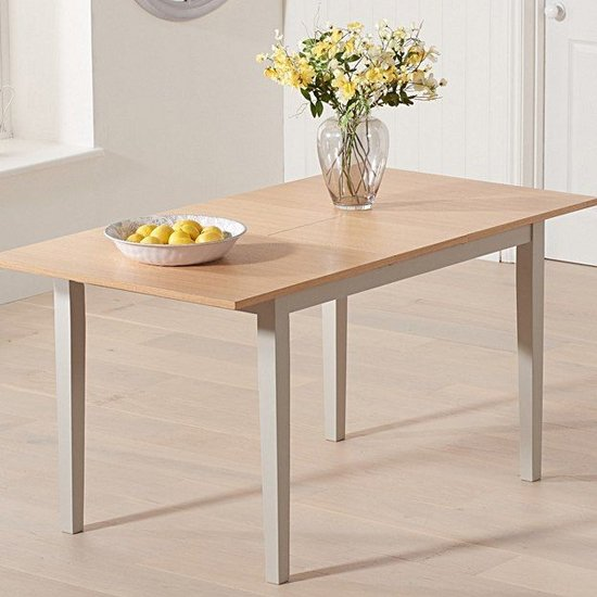 Antlia Wooden Extending Dining Table In Oak And Grey