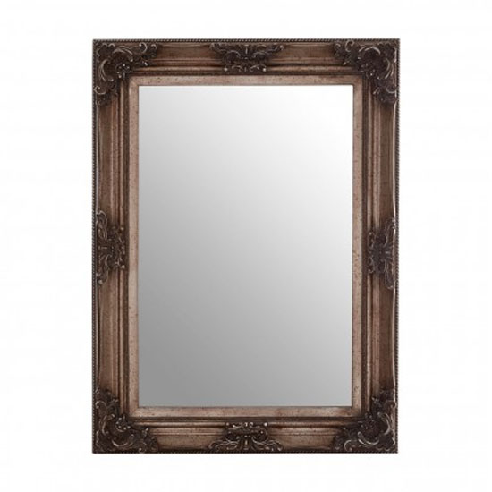 Antoine Wall Bedroom Mirror In Antique Silver Frame