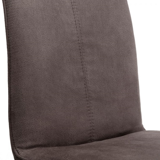 Anya Fabric Dining Chairs In Charcoal Grey Suede In A Pair_3