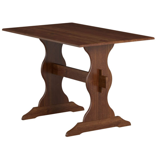 Aosta Wooden Dining Table In Pine Mocha
