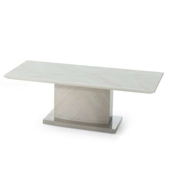 Apollo Marble Coffee Table In Ivory And Stainless Steel