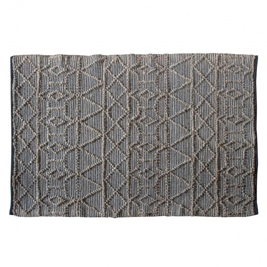Appellido Extra Large Fabric Upholstered Rug In Black Natural