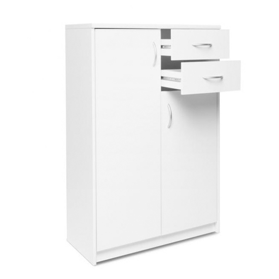 Aquarius Narrow Sideboard In White With 3 Doors And 2 Drawers_2