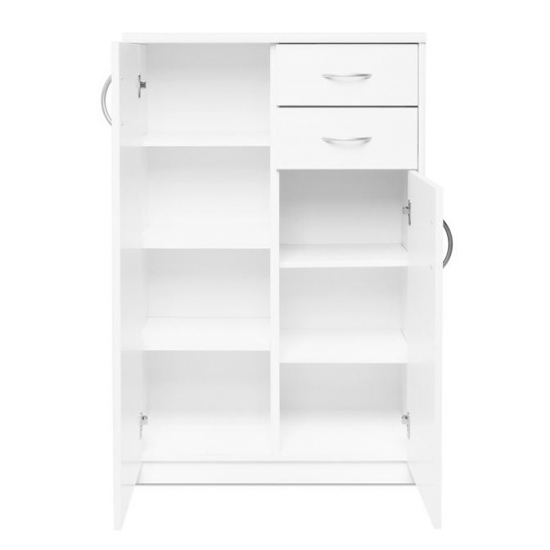 Aquarius Narrow Sideboard In White With 3 Doors And 2 Drawers_3