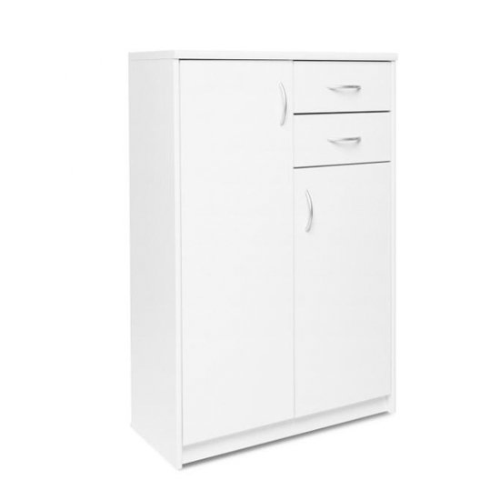 Aquarius Narrow Sideboard In White With 3 Doors And 2 Drawers_1