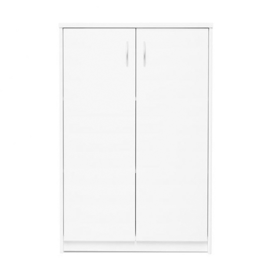 Aquarius Small Shoe Storage Cabinet In White With 2 Doors_2