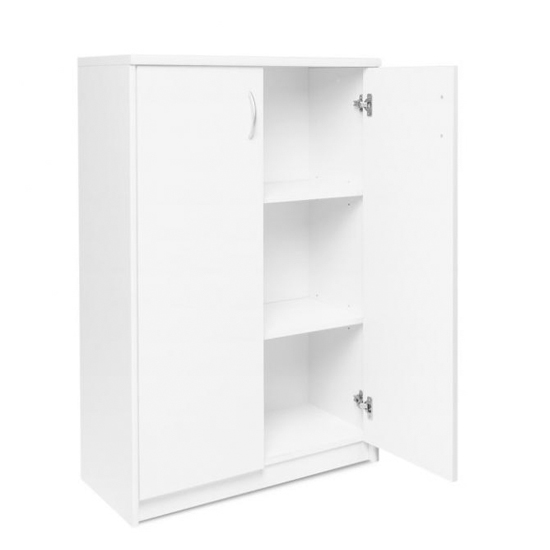 Aquarius Small Shoe Storage Cabinet In White With 2 Doors_3