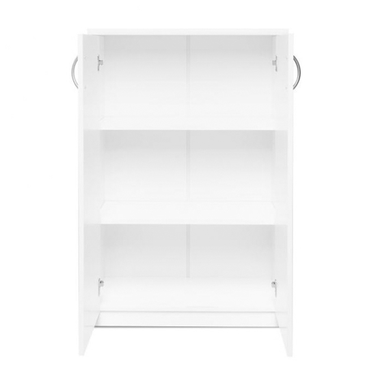 Aquarius Small Shoe Storage Cabinet In White With 2 Doors_4