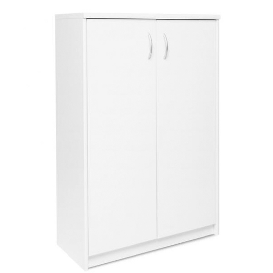 Aquarius Small Shoe Storage Cabinet In White With 2 Doors_1