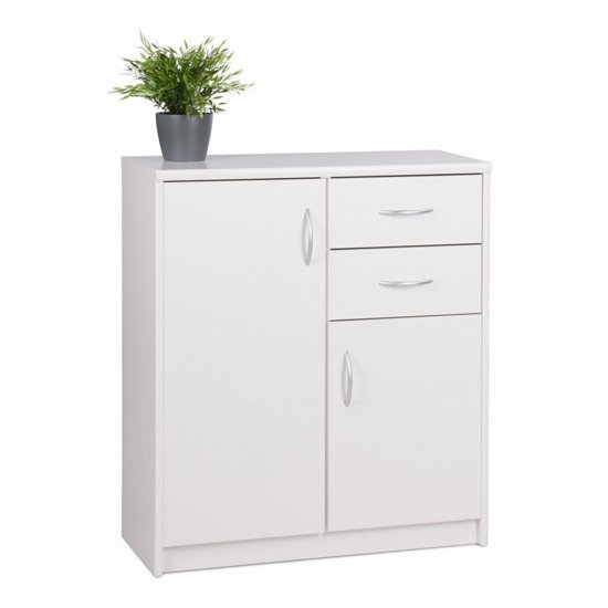 Aquarius Small Sideboard In White With 3 Doors And 2 Drawers