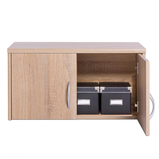 Aquarius Storage Cabinet In Sonoma Oak With 2 Doors_2