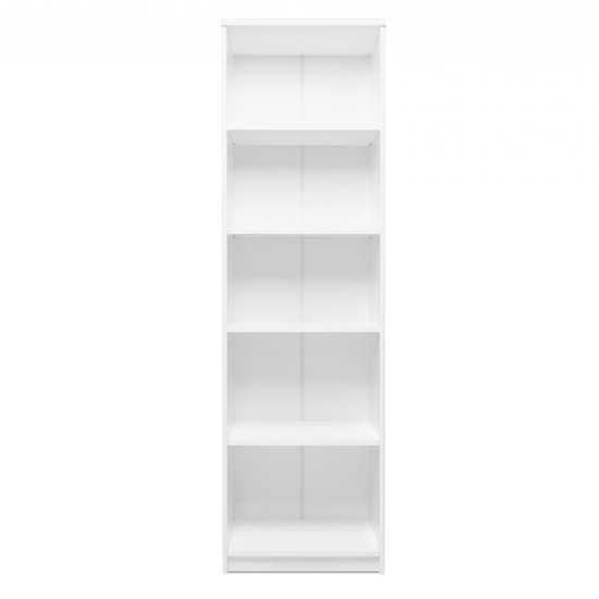 Aquarius Tall Narrow Shelving Unit In White With 4 Shelves_2
