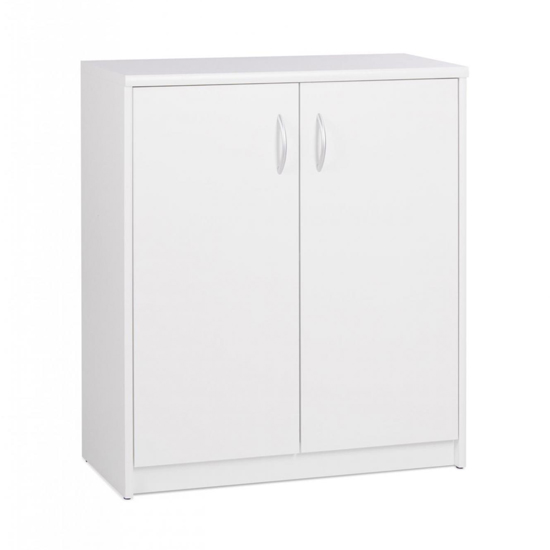Aquarius Wide Storage Cabinet In White With 2 Doors
