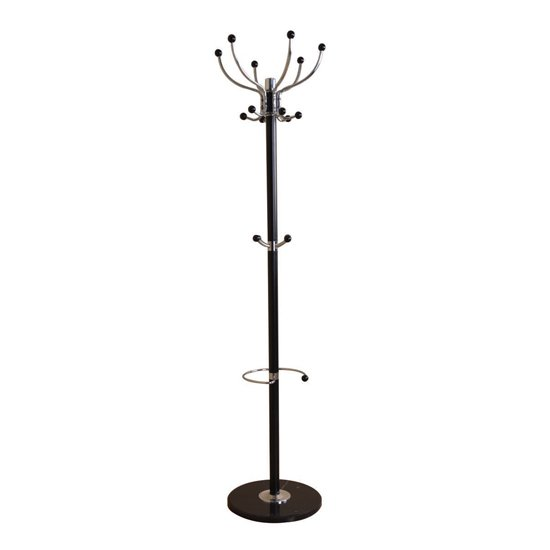 Aquilae Hat and Coat Stand In Black With Granite Base