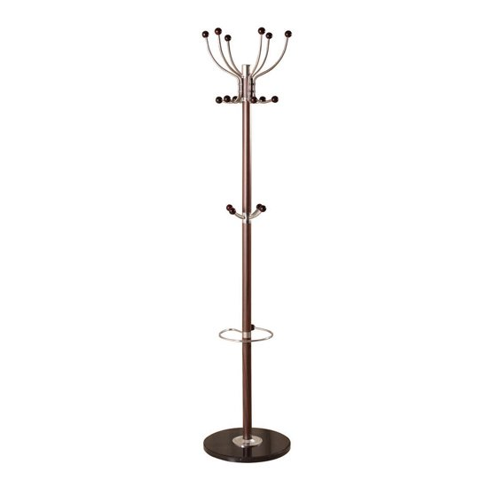 Aquilae Hat and Coat Stand In Brown With Granite Base