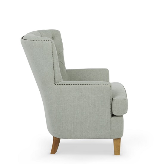 Arcadia Fabric Lounge Chair In Duck Egg With Light Wooden Legs_2
