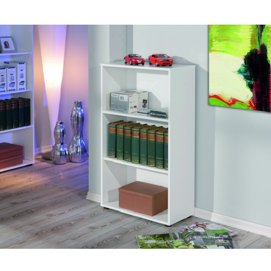 Arco Shelving Unit Or Bookcase In White With 2 Tiers