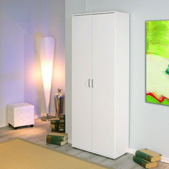 Arconati Wardrobe With Shelving 2 Door In White
