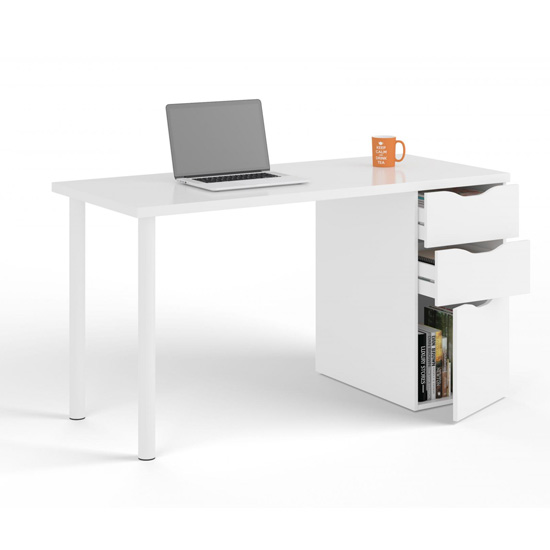 Arctic Reversible Wooden Laptop Desk In White