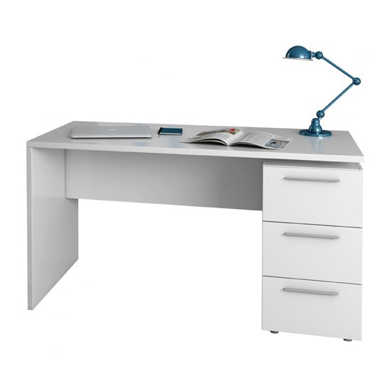 Product photograph showing Arctic Wooden Laptop Desk In White