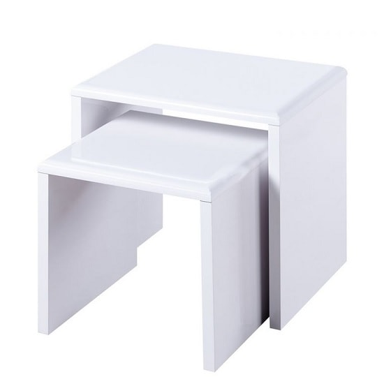 Arden Contemporary Nest of Tables In White High Gloss_2