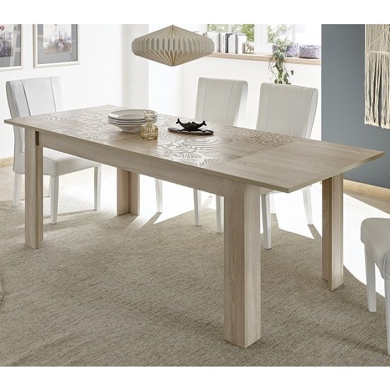 Ardent Wooden Extendable Dining Table Rectangular In Sonoma Oak