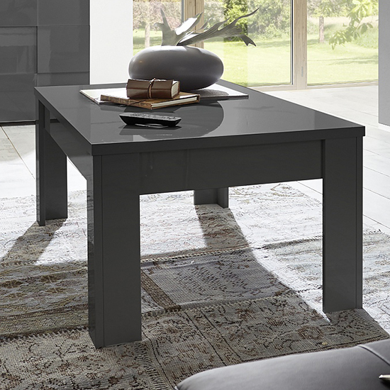 Ardent High Gloss Coffee Table In Grey