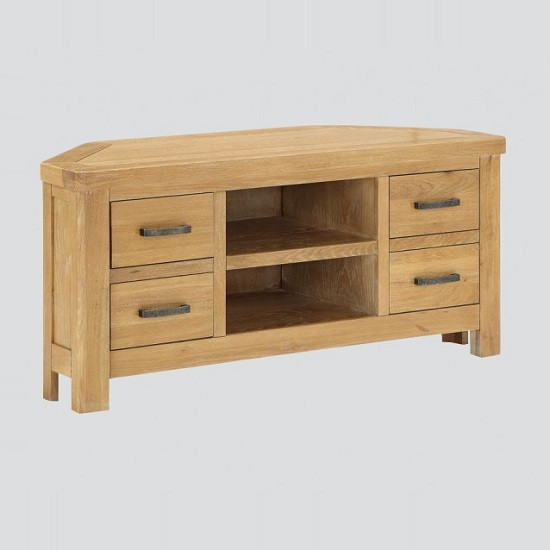 Areli Wooden Corner TV Stand In Washed Oak Finish_1