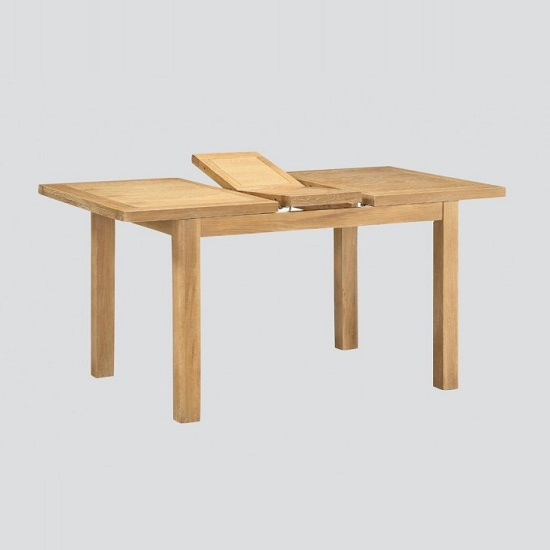 Areli Small Extending Dining Table In Washed Oak Finish