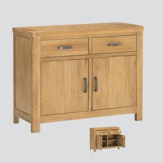 Areli Small Wooden Sideboard In Washed Oak Finish